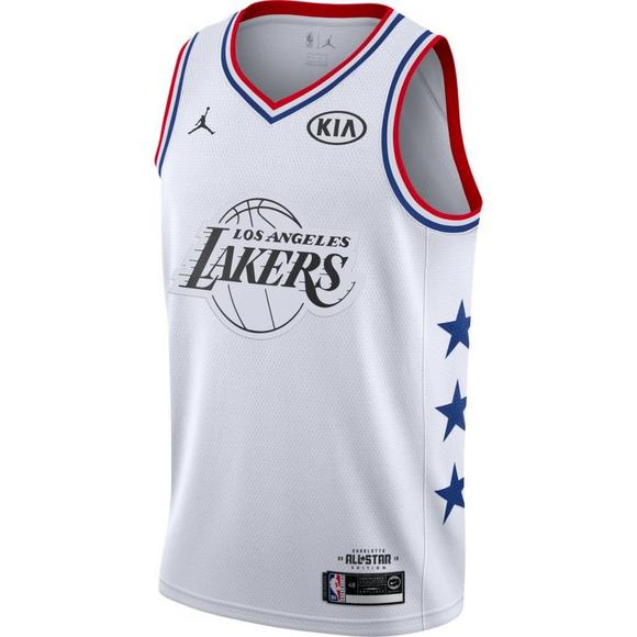 1b5dc057565 Jordan Men s Los Angeles Lakers L. James 2019 All-Star Swingman Jersey -  White