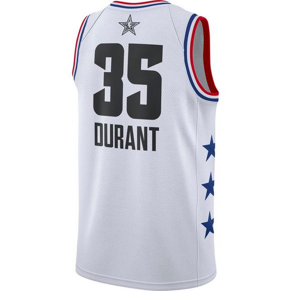 1b275a4da1b5 Jordan Men s Golden State Warriors K. Durant 2019 All-Star Swingman Jersey  - White