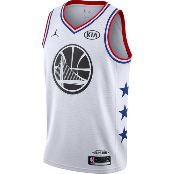 detailed look edbc1 95d46 Jordan Men's Golden State Warriors K. Durant 2019 All-Star Swingman Jersey  - White