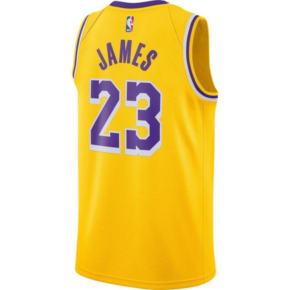 f0411a43a9fb Nike Men s Lebron James Los Angeles Lakers Icon Edition Swingman Jersey -  Main Container Image 2
