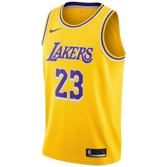huge discount bea9c 75d92 Nike Men's Lebron James Los Angeles Lakers Icon Edition Swingman Jersey