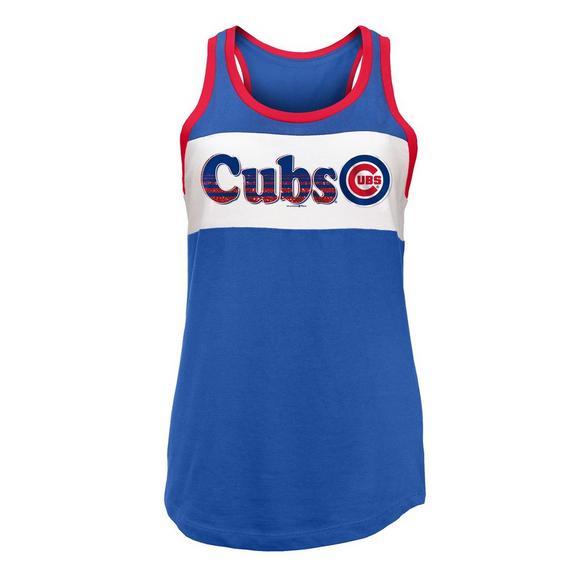 super popular 966fe 2fadc New Era Women's Chicago Cubs Baby Jersey Tank Top Shirt