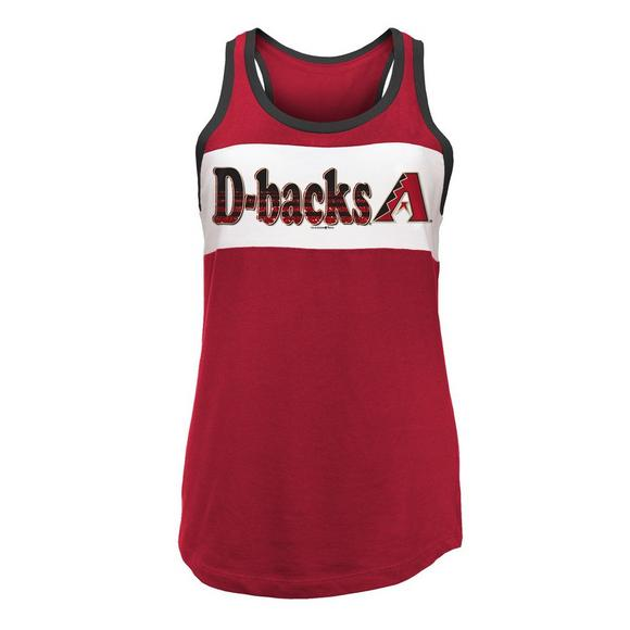 sale retailer 9be0a d93a0 New Era Women's Arizona Diamondbacks Baby Jersey Tank Top Shirt