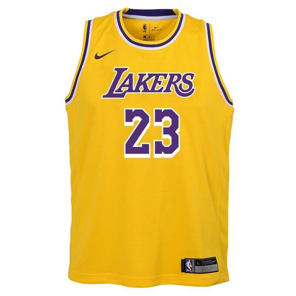 hot sale online d7496 40f29 Nike Youth L. James Los Angeles Lakers Icon Swingman Jersey