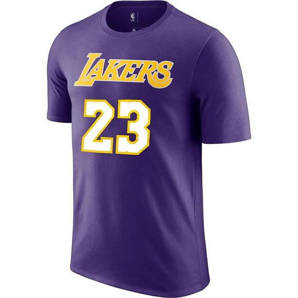 4dcbd4b685c Nike Men's Lebron James Los Angeles Lakers Statement Name & Number Tee -  Main Container Image