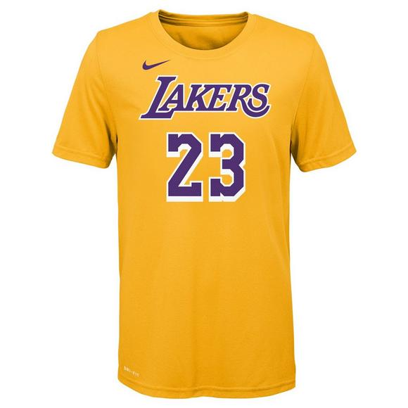 brand new 069c0 1c8d5 Nike Youth Lebron James Los Angeles Lakers City Edition Name ...