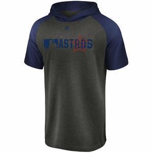 ae6822f5f Majestic Men s Houston Astros Authentic Short Sleeve Hooded T-Shirt