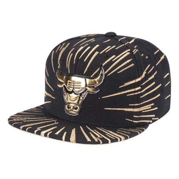 a3af63378 Mitchell & Ness Chicago Bulls Nucleo Gold Snapback Hat - Main Container  Image 1