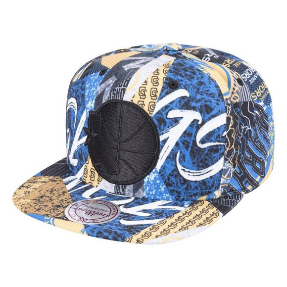 f18f716992e7c Mitchell   Ness Golden State Warriors Paysage Hardwood Classics Snapback -  Main Container Image 1