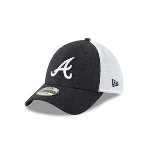 0302599c11bf83 New Era Atlanta Braves Heather Front Neo Stretch-Fit Hat ...