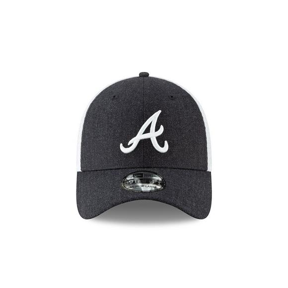 d1fcbf20cab0fa New Era Atlanta Braves Heather Front Neo Stretch-Fit Hat - Main Container  Image 2