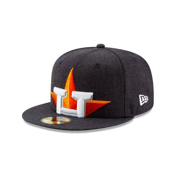 new style 947a6 ae6f3 New Era Houston Astros Logo Flipped 59FIFTY Fitted Hat - Main Container  Image 1