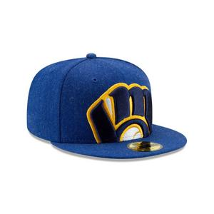 new concept c3673 24327 Free Shipping No Minimum. No rating value  (0). New Era Milwaukee Brewers  Logo Flipped 59FIFTY Fitted Hat
