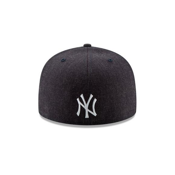 37a69243f4a25 New Era New York Yankees Logo Flipped 59FIFTY Fitted Hat - Main Container  Image 3