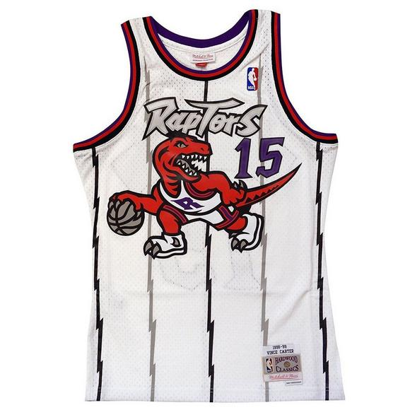 5ecb75a5313 Mitchell & Ness Men's Toronto Raptors Vince Carter Hardwood Classics Away  White Swingman Jersey - Main