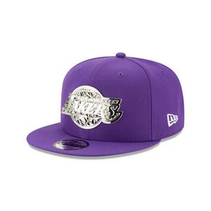 102e71802d87b7 New Era Los Angeles Lakers Fractured Metal 9Fifty Snapback Hat ...