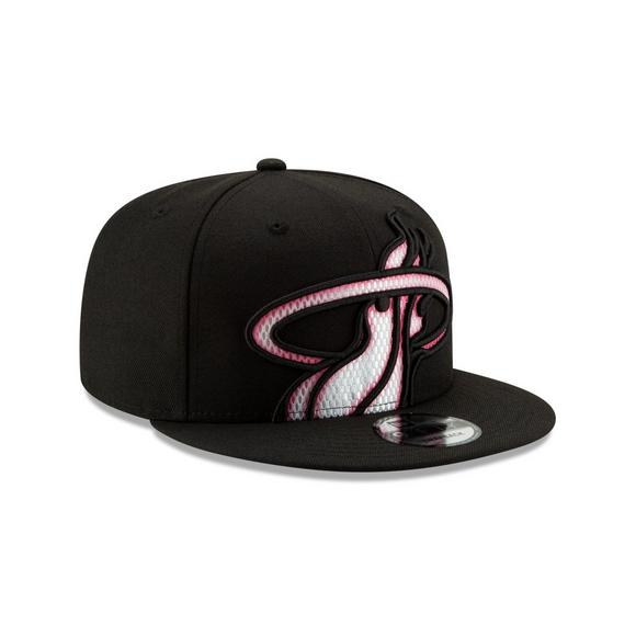 91ef366f628 New Era Miami Heat Color Trim 9FIFTY Snapback Hat - Main Container Image 2