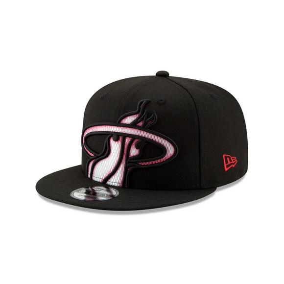 1151391dff3 New Era Miami Heat Color Trim 9FIFTY Snapback Hat - Main Container Image 1