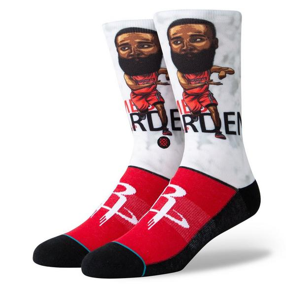 1aded0ef2b41 Stance Houston Rockets James Harden Big Head Crew Socks - Main Container  Image 1