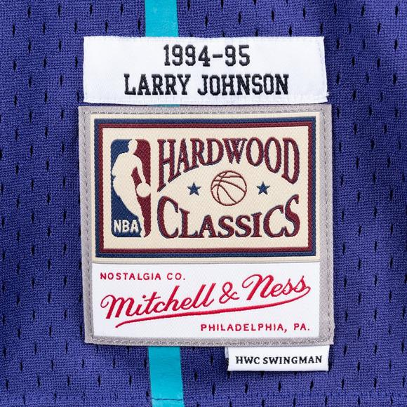 ea379787afe Mitchell & Ness Men's Larry Johnson Charlotte Hornets Hardwood Classics  Swingman Jersey - Main Container Image