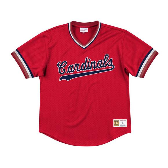new styles 4327a 470ef Mitchell & Ness Men's St. Louis Cardinals Red Mesh V-neck Jersey
