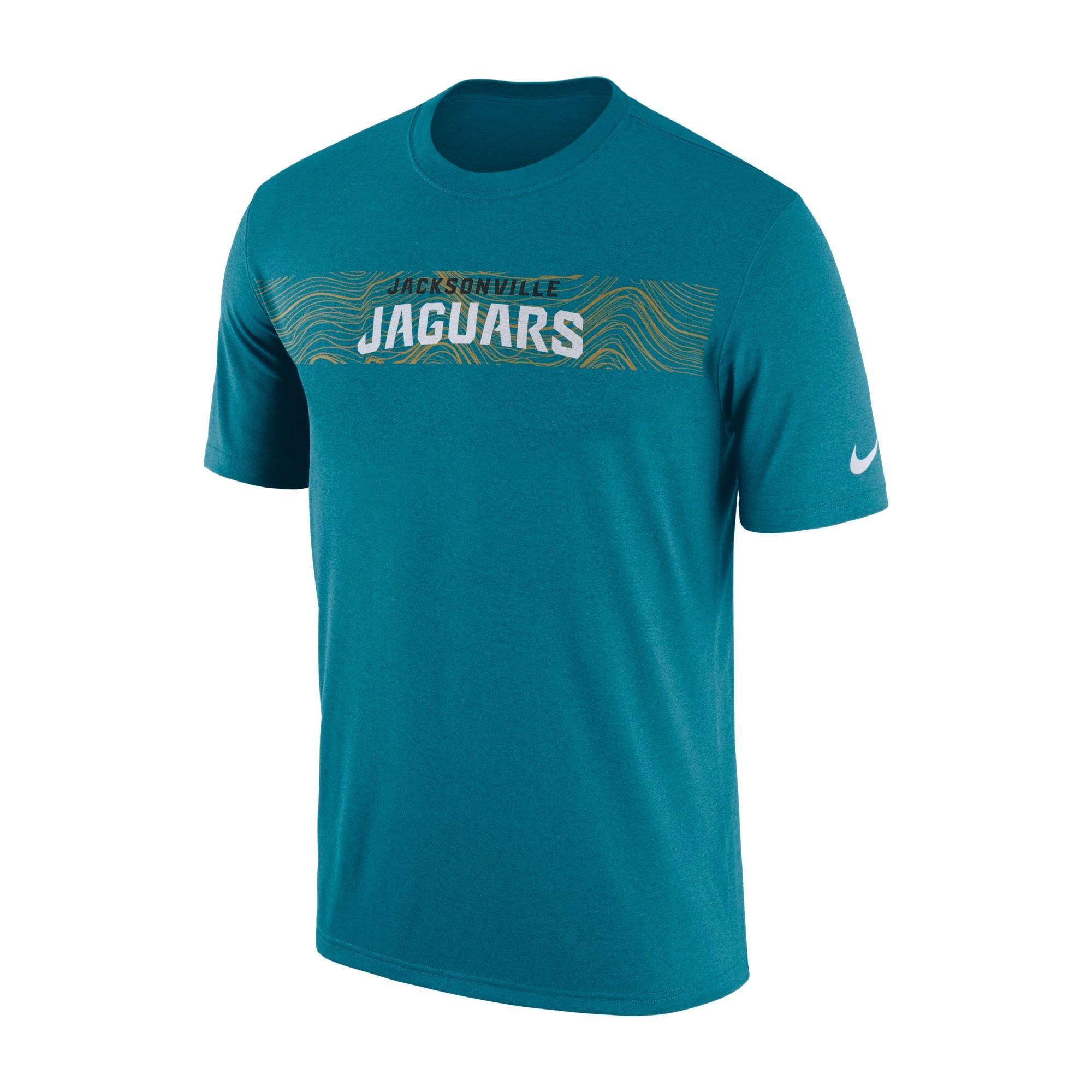 Nike Menu0027s Jacksonville Jaguars Legend On Field Seismic Dri Fit Teal T Shirt