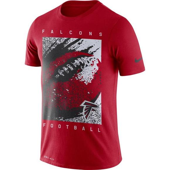 separation shoes c1142 c968b Nike Men's Atlanta Falcons Dri-FIT Cotton Mezzo Icon T-Shirt