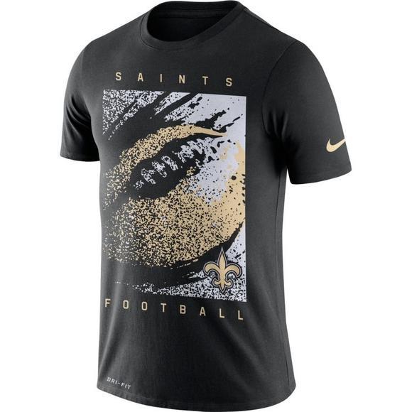 the latest 25527 16d7d Nike Men's New Orleans Saints Dri-FIT Cotton Mezzo Icon T-Shirt