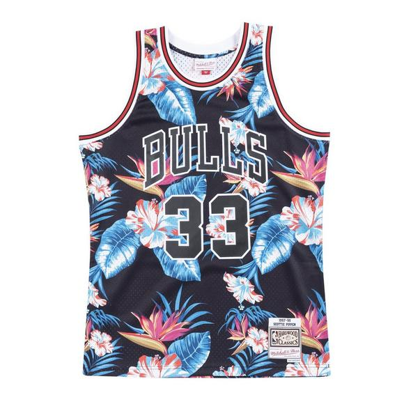 a9d438a0f0ae Mitchell   Ness Men s Chicago Bulls Scottie Pippen Floral Swingman Jersey -  Main Container ...