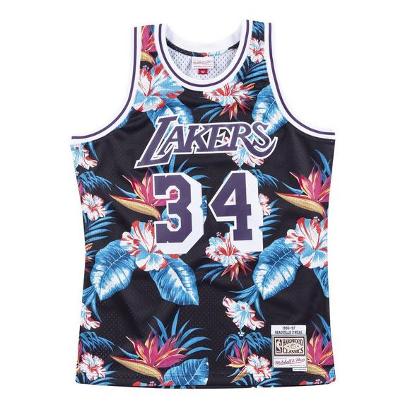 926d23005eb Mitchell & Ness Men's Los Angeles Lakers Shaquille O'Neal Floral Swingman  Jersey - Main