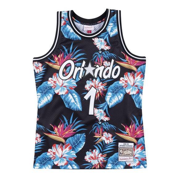 pretty nice dd6e3 6a9c7 Mitchell & Ness Men's Orlando Magic Penny Hardaway Floral Swingman Jersey