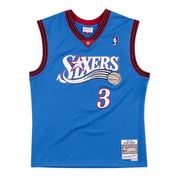 new concept 719a2 4ed2b Mitchell & Ness Men's Philadelphia 76ers Allen Iverson Swingman Jersey