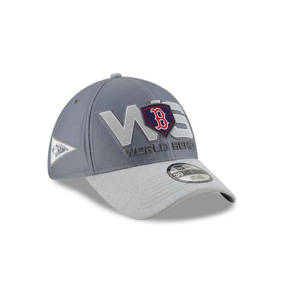 d87833ae883 New Era Boston Red Sox 39THIRTY American League Champions Locker Room  Stretch-Fit Hat -