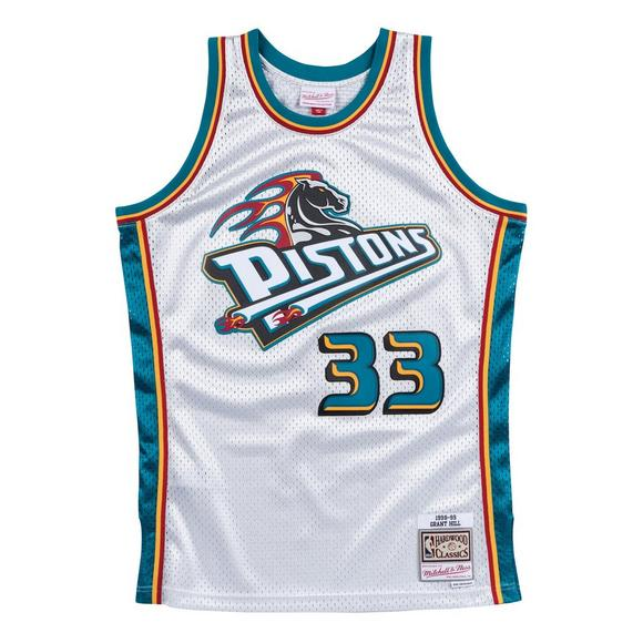 new product 890d1 2f3aa Mitchell & Ness Men's Detroit Pistons Grant Hill Platinum Swingman Jersey