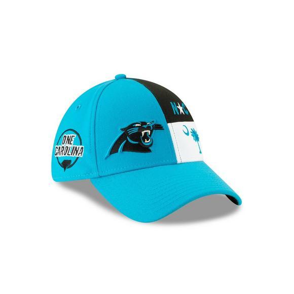 91271092 New Era Carolina Panthers 39THIRTY NFL Draft On Stage Stretch-Fit Hat