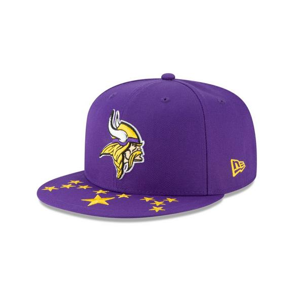 reputable site 45671 e392b New Era Minnesota Vikings 9FIFTY NFL Draft On Stage Snapback Hat - Main  Container Image 1