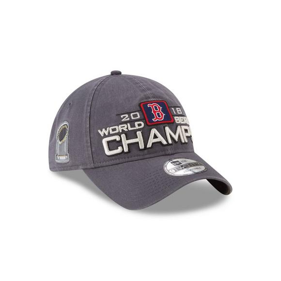 7dcbf2f1847db New Era Boston Red Sox 2018 MLB World Series Champions 9TWENTY Locker Room  Fan Adjustable Hat
