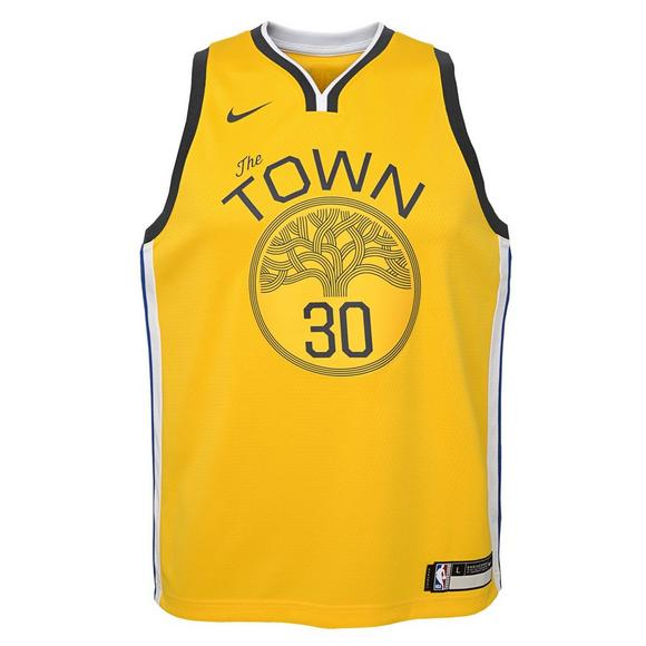 differently 43249 4bcbe Nike Youth Golden State Warriors S. Curry Earned Edition Swingman Jersey -  Main Container Image