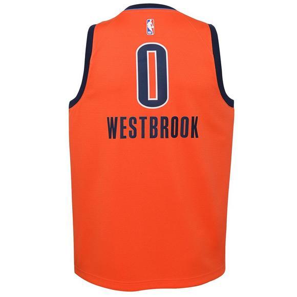 reputable site 410da 4ea59 Nike Youth R. Westbrook Oklahoma City Thunder Earned Edition Swingman Jersey