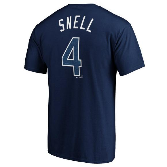 new products 0e2a2 5a7ef Majestic Men's Tampa Bay Rays Blake Snell Name & Number T-Shirt