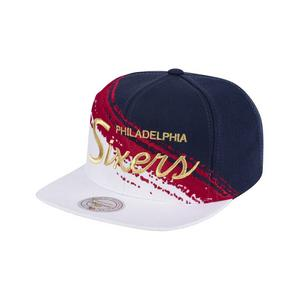 6763d642 Mitchell & Ness Philadelphia 76ers 4th of July Brushed Snapback ...
