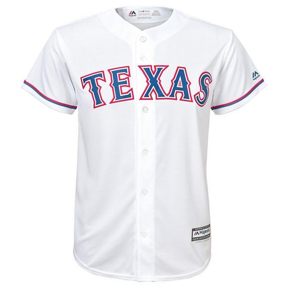 best loved 144a1 78d1f Majestic Youth Texas Rangers Joey Gallo Cool Base Replica Jersey