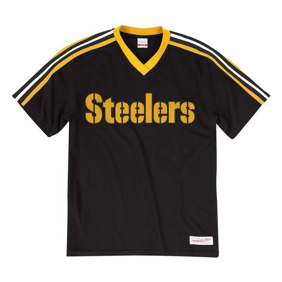 b42a6ded Mitchell & Ness Men's Pittsburgh Steelers Overtime Win Short Sleeve Top