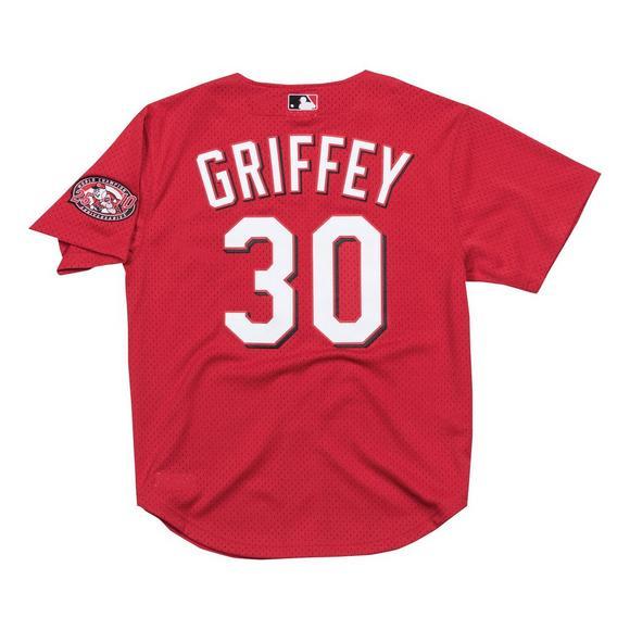 on sale c038b 32c5b Mitchell & Ness Men's Cincinnati Reds Ken Griffey Jr. Batting Practice  Jersey