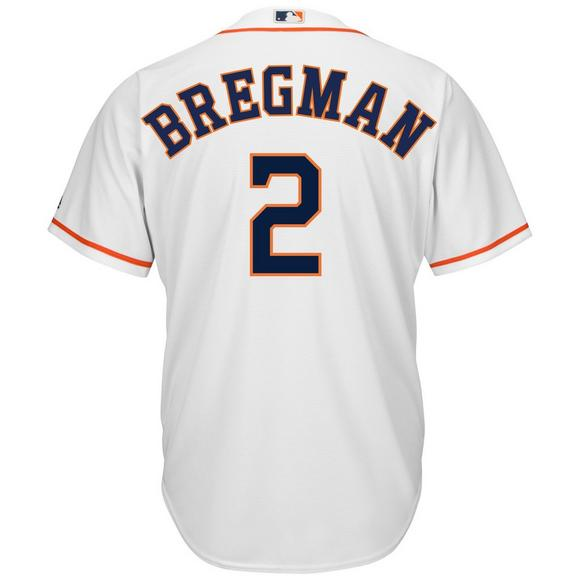quality design 3cd5f 100f1 Majestic Men's Houston Astros Alex Bregman Cool Base White Jersey