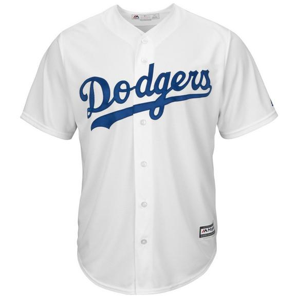 new style 2203b 1bcc2 Majestic Men's Los Angeles Dodgers Justin Turner Cool Base White Jersey