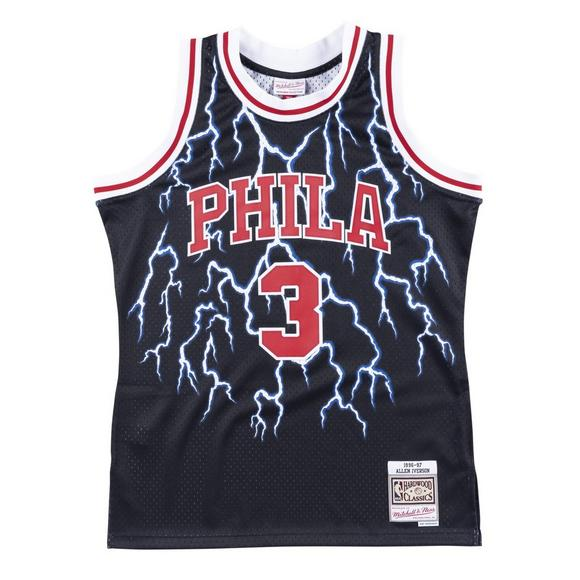 big sale 39d05 962f1 Mitchell & Ness Men's Philadelphia 76ers Allen Iverson Lightning Swingman  Jersey