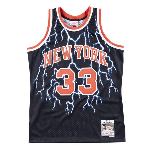 pretty nice e841b b8b5f Mitchell & Ness Men's New York Knicks Patrick Ewing Lightning Swingman  Jersey