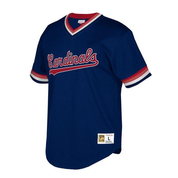 new style 97ab9 a18b5 Mitchell & Ness Men's St. Louis Cardinals Big & Tall Mesh V-Neck Jersey