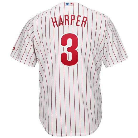 lowest price 2cef2 dd0ea Majestic Youth Philadelphia Phillies Bryce Harper Cool Base Jersey